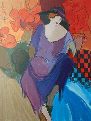 Itzchak Tarkay - Femme Fatale (36x26 serigraph)