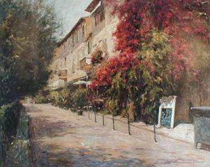 Rue De San Tropez (36x45 serigraph on canvas)