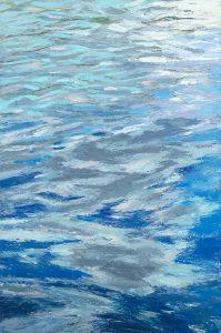 Lynne Adams Painting of Abstract Ocean Waves Ripples of Light On Water
