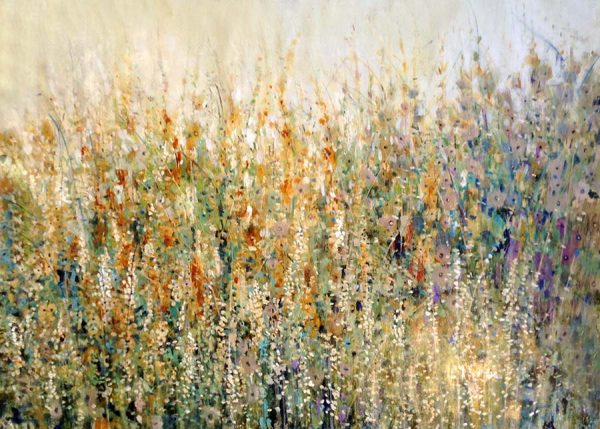 Timothy O'Toole Painting Yellow Orange Gold Green Field of Flowers Grass Wild Nature