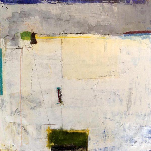 Helen Zarin Painting Gray Beige Neutral Minimalist Abstract Geometric