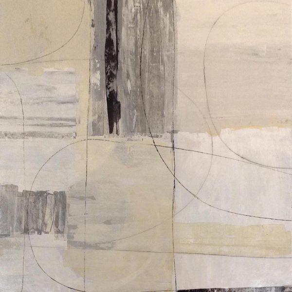 Kari Taylor Painting Gray Black White Geometric Abstract