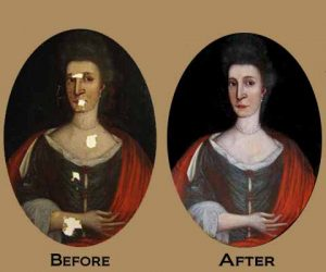 Oval Restoration: Clean and Repair Holes