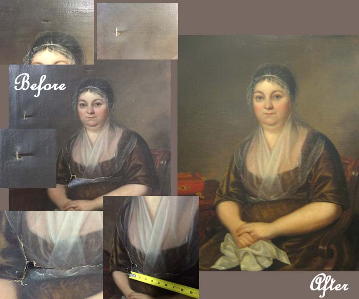 Restoration of Damaged Portrait