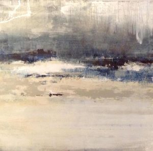 Joshua Schicker Painting Abstract Seascape Blue Nautical Horizon