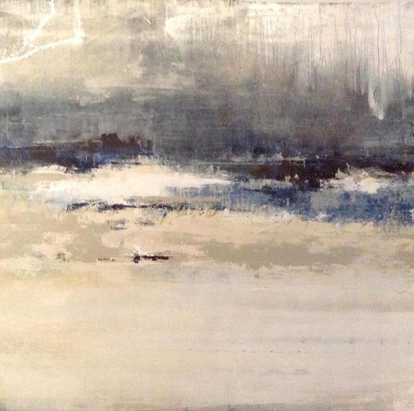 Joshua Schicker Painting Abstract Seascape Blue Nautical Horizon