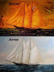 Marine Painting Restoration Before & After