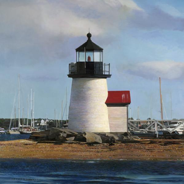 Robert Bolster Painting Traditional Realism Light House New England Nautical Coast