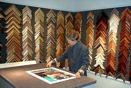 Framing with Gallery Owner Renate Rosenfield
