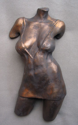 Michael Alfano - Female Figure Torso with Dress in Copper