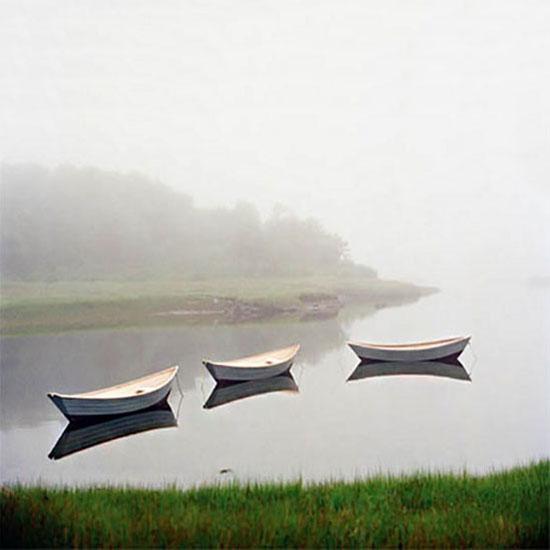Daniel Coffey Mixed Media small boats on Water