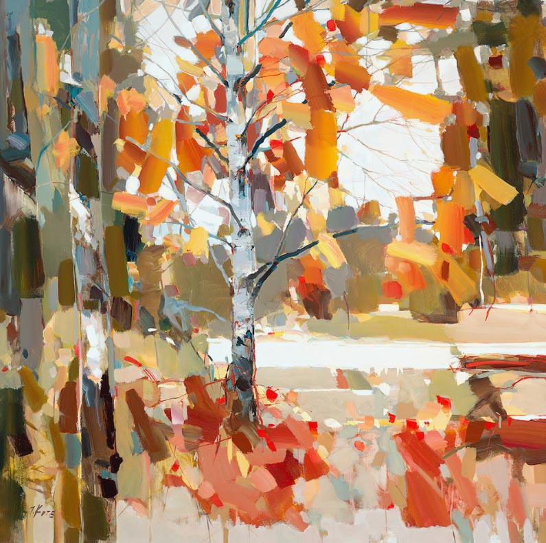 Josef Kote - Beyond the Fall - Autumn Forest Abstract Tree Fall Leaves Foliage