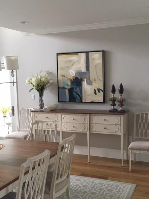 Ursula Brenner Abstract painting in Ipswich home