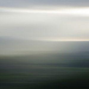 Don Scott MacDonald Painting Contemporary Abstract Gray Green Blue Landscape Fog Blur Water
