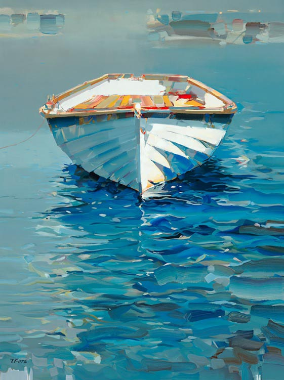 Josef Kote - Somehow It Felt Right - Row Boat Ship on Waves Water Ocean Sea Dingy