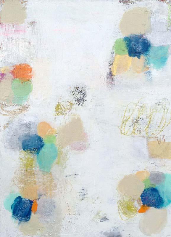 Ellen Hermanos Painting Ursula Brenner Painting Whimsical Teal Blue Orange
