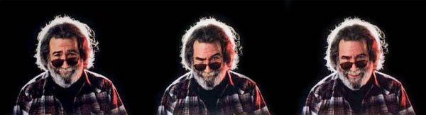 Herb Greene - Candy Man triptych photograph print of jerry garica from the grateful dead