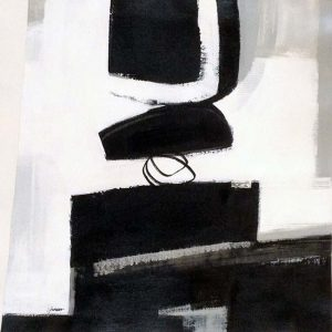 Carlyn Janus Painting Contemporary Abstract Black and White
