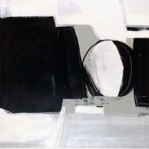 Carlyn Janus Painting Contemporary Abstract Black White Gray