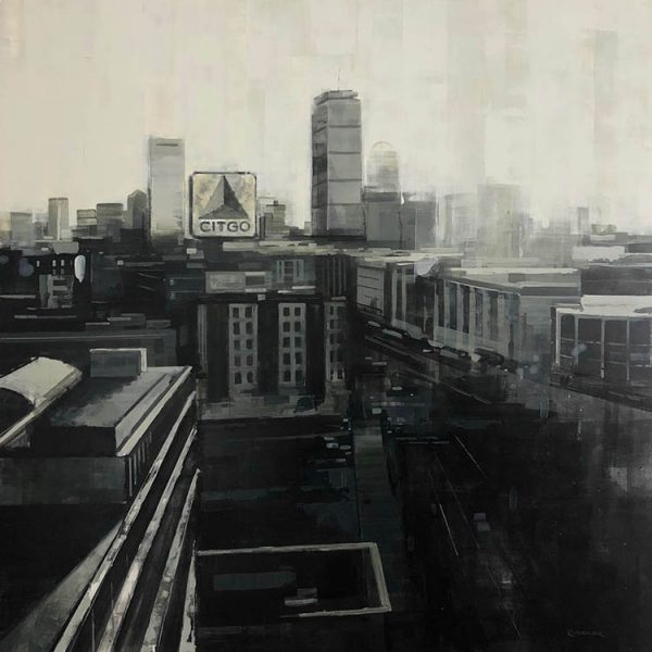 Kevin Kusiolek Painting - Boston Skyline Prudential Architecture