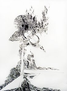 Gary Smith Original Ink on Paper - Musical Black and White Drawings