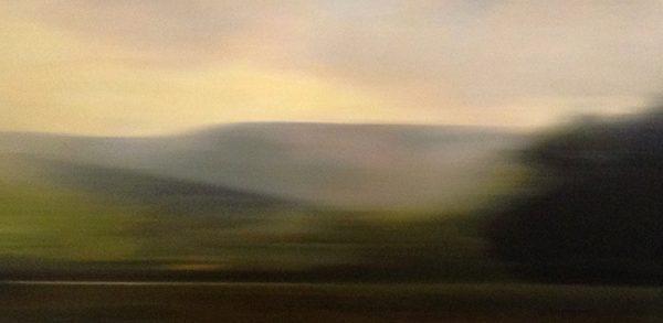 Don Scott MacDonald Painting Blur Landscape Mountain Green Beige Nature