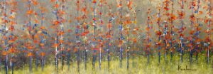 Jeff Koehn Painting - Red Tree Forest Glade Aspen Colorado