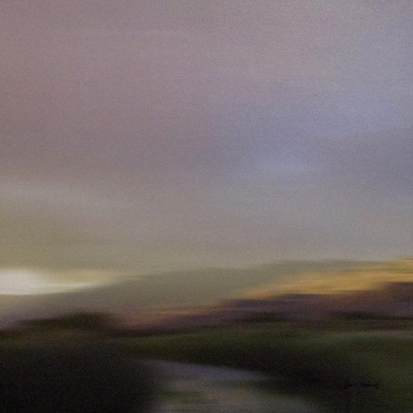 Don Scott MacDonald Painting of Purple Sky with Green Valley