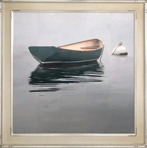Robert Bolster painting of row boat in water with buoy