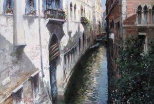 Claudio Simonetti Painting - Venice Canal