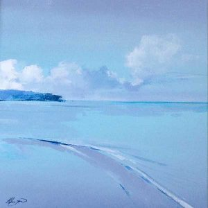 Helen Zarin Painting of Blue Contemporary Seascape