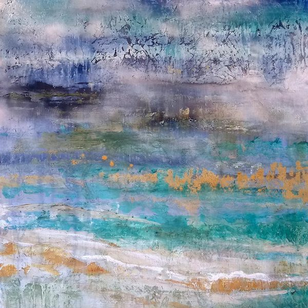 Alexys Henry Painting Abstract Seascape with turquoise water