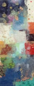 Paul Tiersky - Resin I Contemporary Abstract with Blocks of Collor and Patterns