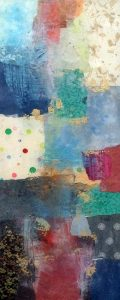 Paul Tiersky Painting Contemporary Abstract with Blocks of Color and Pattern