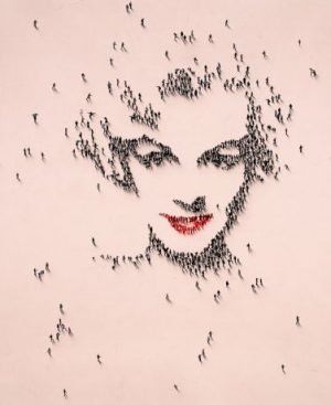 Craig Alan - Coral Glim - limited edition gilclee print of Marilyn Monroe with a pink background