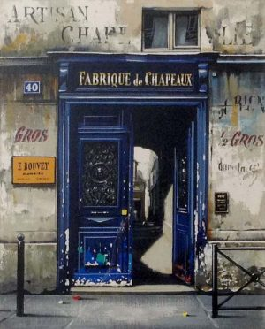 Thomas Pradzynski - Fabrique de Chapeaux (12x9 serigraph on paper)