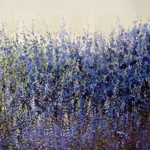 Timothy OToole Painting - Contemporary Floral Blue Wildflowers Meadow