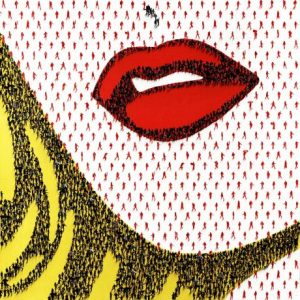 Craig Alan - Merlot Please - Limited Edition Giclee Print of Roy Lichtenstein Girl with Red Lips