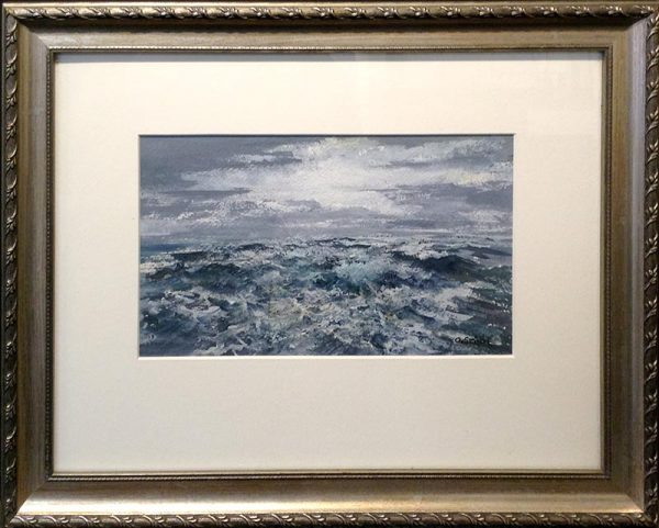 Gary Smith Painting - Blue and White Seascape Watercolor Waves Ocean