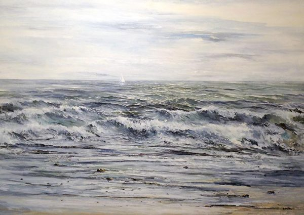 Gary Smith Watercolor Seascape Painting of Ocean
