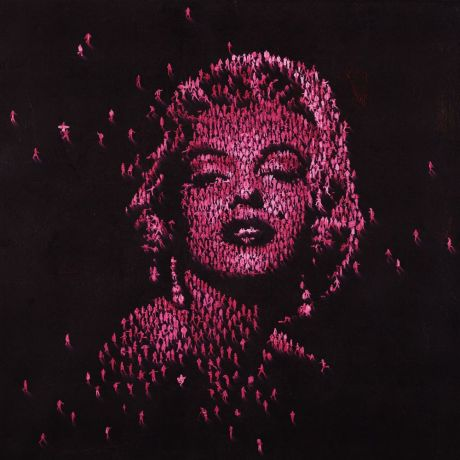 Craig Alan - The Ogle - Limited edition print of black and red Marilyn Monroe