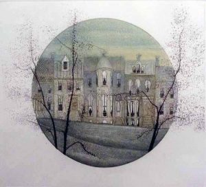 Pat Buckley Moss etching of Georgetown, Maryland