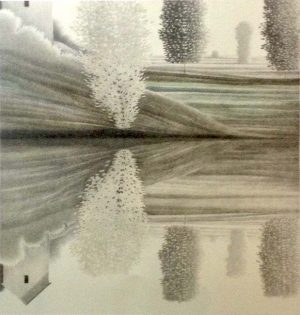 Robert Kipniss - Reflections of a Pale Tree lithograph