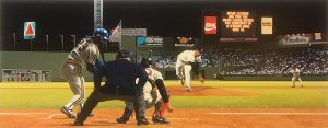 Bill Purdom - Rocket's Red Glare print of Roger Clemens striking out 20 batters at Fenway Park
