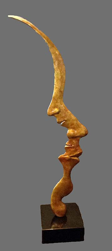 Michael Alfano - Self Reflection sculpture of faces in profile