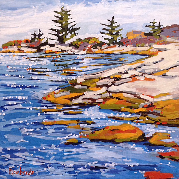 Holly Lombardo painting of seashore in New England