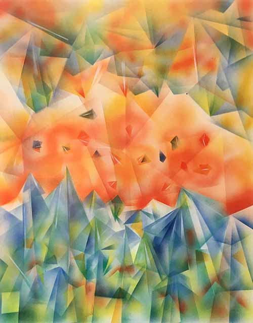 Jerry Garcia - Facets I colorful geometric abstract