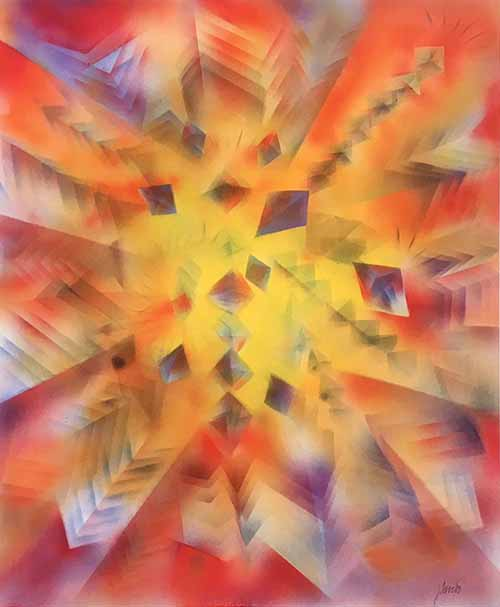 Jerry Garcia - Facets II colorful geometric abstract