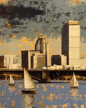 Kevin Kusiolek painting of Boston during summer