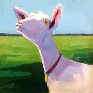 Betsy Schulthess painting of goat in field